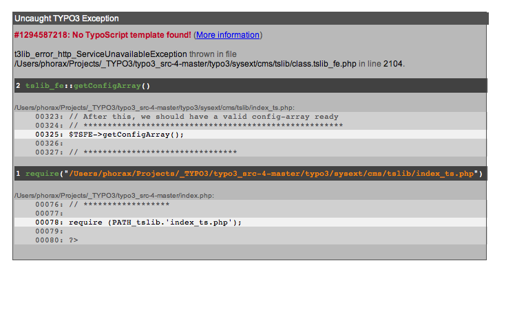 Feature #29737: User friendly error message for pages