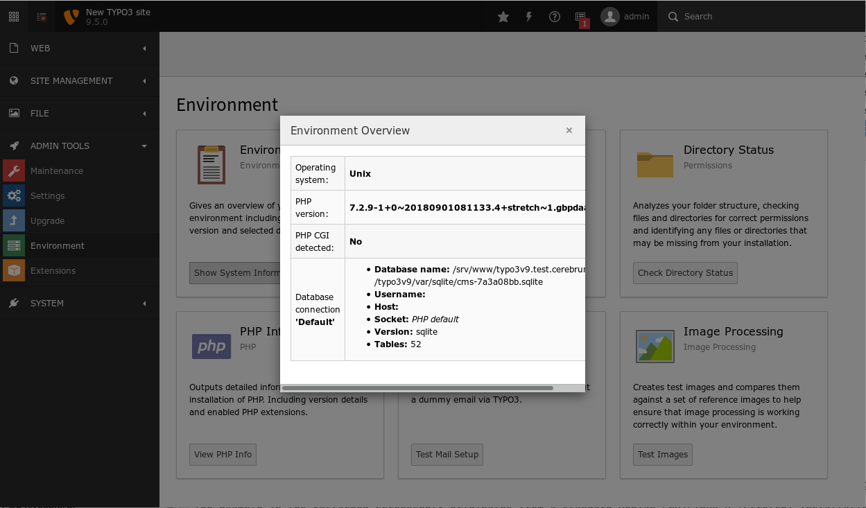 TYPO3v9.5.0-EnvironmentOverview.png